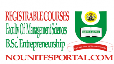 Photo of Registrable Courses and Cost Estimate For B.Sc. Entrepreneurship (100 to 400 level)