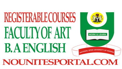 Photo of Registerable Courses and Cost Estimate For B. A English (100-400 level)