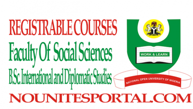 Photo of Registerable Courses and Cost Estimate For BSC International and Diplomatic Studies (100 to 400L)