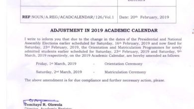 adjustment in academic calendar