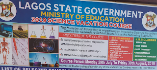 Photo of Lagos State Science Vacation Course Admission Form| JSS & SS 2019
